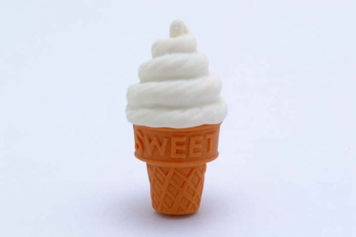 IWAKO NOVELTY ERASERS/RUBBERS - WHITE ICE-CREAM CONE